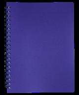 /Тетрадь для записей STATUS, L2U, А4, 80 л., клетка, чароит, пласт.обложка