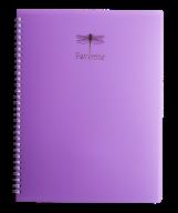 /Тетрадь для записей FAVOURITE, PASTEL, А4, 80 л., клетка, пластиковая обложка, сиреневая
