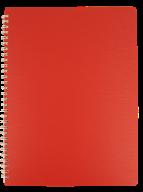 /Тетрадьдлязаписей BARK А4, 60 л., клетка, пластиковаяобложка, красная