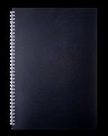 /Тетрадь для записей CLASSIC, L2U, А4, 80 л., клетка, пластиковая обложка, черная