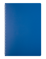 /Тетрадь для записей CLASSIC, L2U, А4, 80 л., клетка, пластиковая обложка, синяя