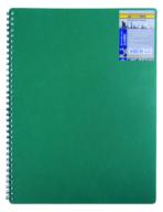 /Тетрадь для записей CLASSIC, L2U, А4, 80 л., клетка, пластиковая обложка, зеленая