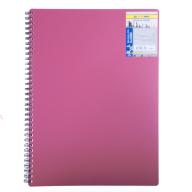 /Тетрадь для записей CLASSIC, L2U, А4, 80 л., клетка, пластиковая обложка, красная