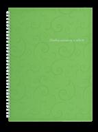 /Тетрадь для записей BAROCCO, А4, 80 л., клетка, пластиковая обложка, салатовая