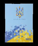 /Блокнот UKRAINE, А5, 96 л., клетка, твердая картонная обложка, голубой