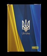 /Блокнот UKRAINE, А5, 96 л., клетка, твердая картонная обложка, синий электрик