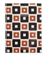 /Записная книжка  INTENSO, А5, 96 л., клетка, твердая картонная обложка, черная