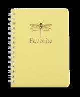 /Тетрадь для записей FAVOURITE, PASTEL, А6, 80 л., клетка, пластиковая обложка, желтая
