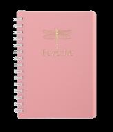 /Тетрадь для записей FAVOURITE, PASTEL, А6, 80 л., клетка, пластиковая обложка, розовая