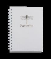/Тетрадь для записей FAVOURITE, PASTEL, А6, 80 л., клетка, пластиковая обложка, белая