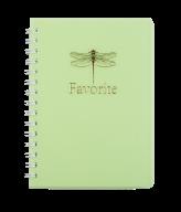 /Тетрадь для записей FAVOURITE, PASTEL, А6, 80 л., клетка, пластиковая обложка, салатовая