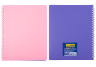 /Тетрадь для записей В5, SUMMER TIME, PASTEL, 96 л., клетка,пласт.обложка, св.-розовый/сиреневый