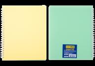 /Тетрадь для записей В5, SUMMER TIME, PASTEL,  96 л., клетка,пласт. обложка, св.-желтый/лайм