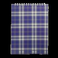 /Блокнот на пружине сверху, SHOTLANDKA, А5, 48 л., клетка, синий
