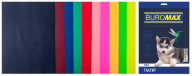Набор цв.бумаги DARK+NEON, 10 цв., 50 л., А4, 80 г/м²