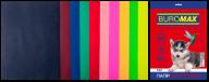 Набор цв.бумаги DARK+NEON, 10 цв., 20 л.,  А4, 80 г/м²