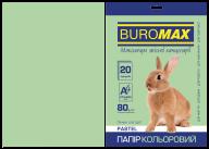 Бумага цветная PASTEL, св.-зеленая, 20 л., А4, 80 г/м²