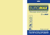 Бумага цветная PASTEL, EUROMAX, желтая, 20 л., А4, 80 г/м²