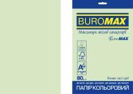 Бумага цветная PASTEL, EUROMAX, св.-зеленая, 20 л., А4, 80 г/м²