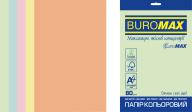 Набор цв.бумаги PASTEL, EUROMAX, 5 цв., 250 л., А4, 80 г/м²