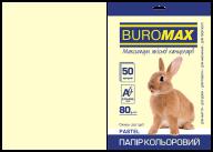 Бумага цветная  PASTEL, крем., 50 л., А4, 80 г/м²