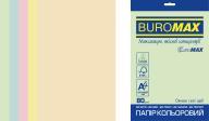 Набор цв.бумаги PASTEL, EUROMAX, 5 цв., 50 л., А4, 80 г/м²