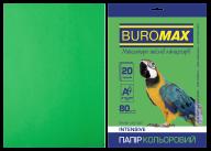 Бумага цветная INTENSIVE, зеленая, 20 л., А4, 80 г/м²