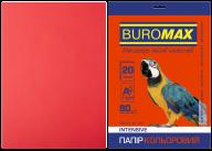 Бумага цветная INTENSIVE, красная, 20 л., А4, 80 г/м²