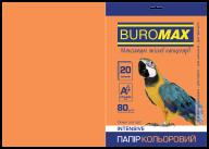 Бумага цветная INTENSIVE, оранж., 20 л., А4, 80 г/м²