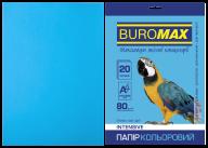 Бумага цветная INTENSIVE, св.-синий, 20 л., А4, 80 г/м²