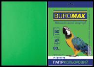 Бумага цветная INTENSIVE, зеленая, 50 л., А4, 80 г/м²