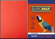Бумага цветная INTENSIVE, красный, 50 л., А4, 80 г/м²