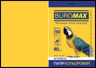 Бумага цветная INTENSIVE, желтая, 50 л., А4, 80 г/м²