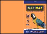 Бумага цветная INTENSIVE, оранж., 50 л., А4, 80 г/м²