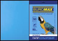 Бумага цветная INTENSIVE, св.-синяя, 50 л., А4, 80 г/м²