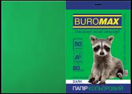 Бумага цветная DARK, т.-зеленая, 50 л., А4, 80 г/м²