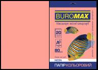 Бумага цветная NEON, розовая, 20 л., А4, 80 г/м²