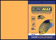 Бумага цветная NEON, оранж., 20 л., А4, 80 г/м²