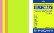 Набор цв.бумаги NEON, EUROMAX, 4 цв., 20 л., А4, 80 г/м²