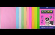 Набор цв.бумаги PASTEL+NEON, 10 цв., 50 л., А4, 80 г/м²