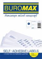 ^$Этикетки самоклеящиеся, 1 шт/л., 210х297 мм, 100 л. в упаковке