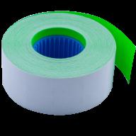 Ценник 26x16 мм (1000 шт, 12 м), прямоугольный, внутренняя намотка, зеленый