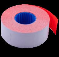 Ценник 26x16 мм (1000 шт, 12 м), прямоугольный, внутренняя намотка, красный