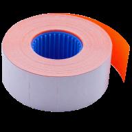 Ценник 26x16 мм (1000 шт, 12 м), прямоугольный, внутренняя намотка, оранжевый
