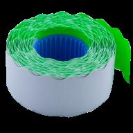 Ценник 26x12 мм (1000 шт, 12 м), фигурный, внутренняя намотка, зеленый