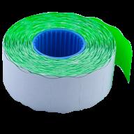 Ценник 26x16 мм (1000 шт, 12 м), фигурный, внутренняя намотка, зеленый