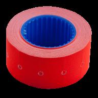 Ценник 22x12 мм (500 шт, 6 м), прямоугольный, внешняя намотка, красный