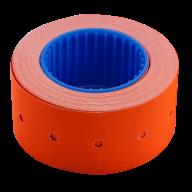 Ценник 22x12 мм (500 шт, 6 м), прямоугольный, внешняя намотка, оранжевый