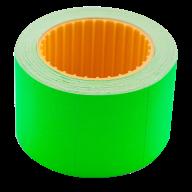 Ценник 35x25 мм (240 шт, 6 м), прямоугольный, внешняя намотка, зеленый