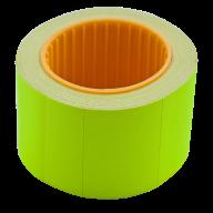Ценник 35x25 мм (240 шт, 6 м), прямоугольный, внешняя намотка, желтый